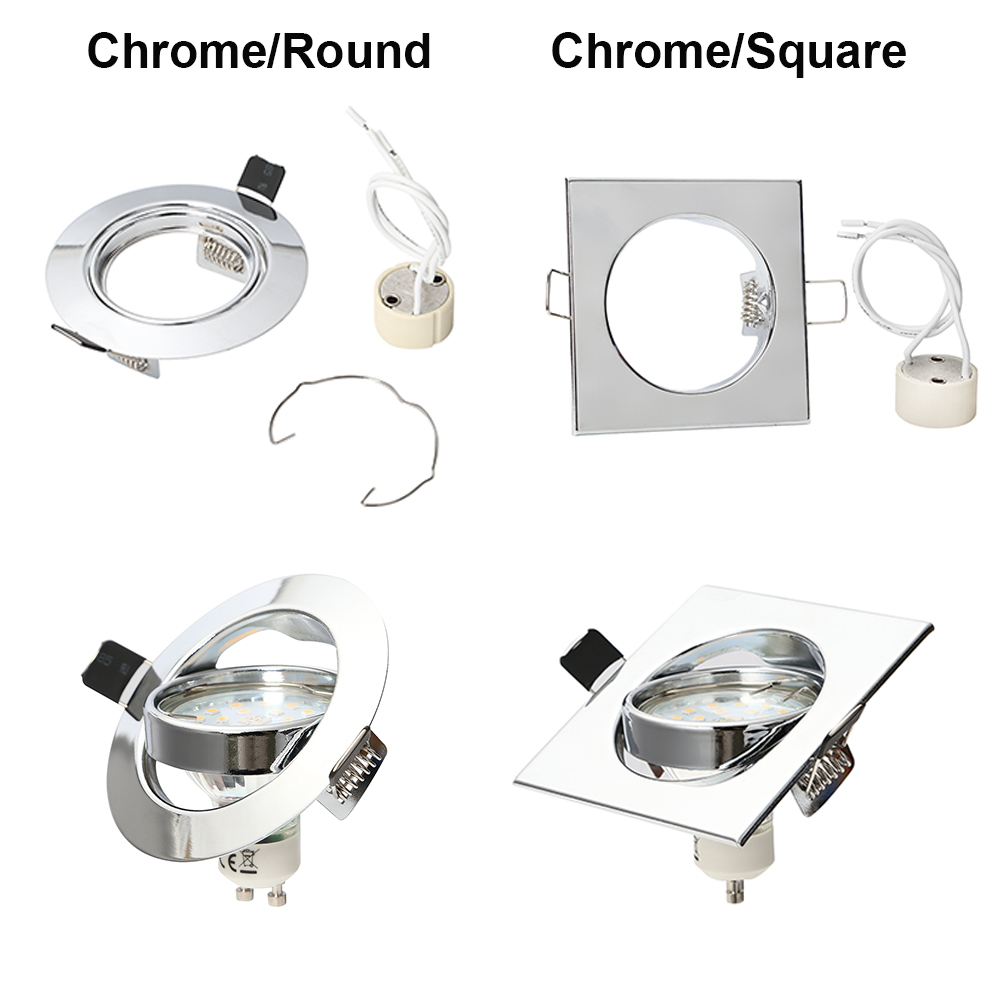 Ceiling Lamp Bracket: 4/10X Recessed Downlight Fitting Adjustable Ceiling Light