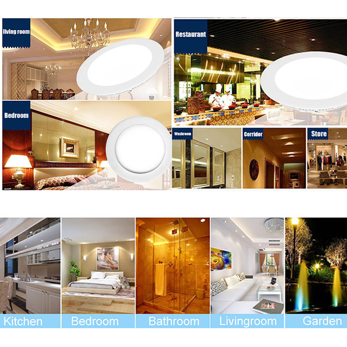 6w 12w 18w 24w Led Recessed Ceiling Flat Panel Down Light