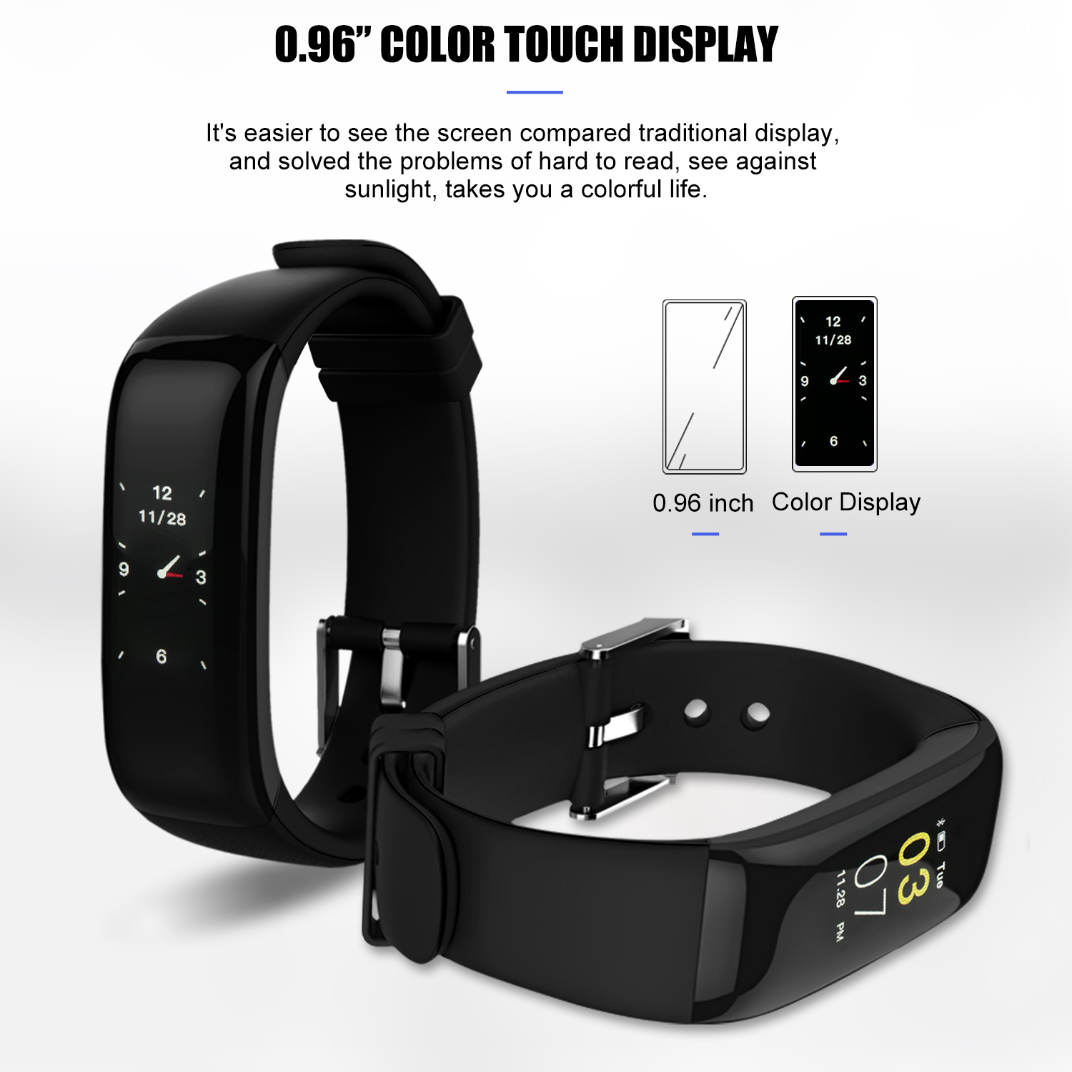 heart rate smartband bracelet tracker bluetooth fitness watches smart
