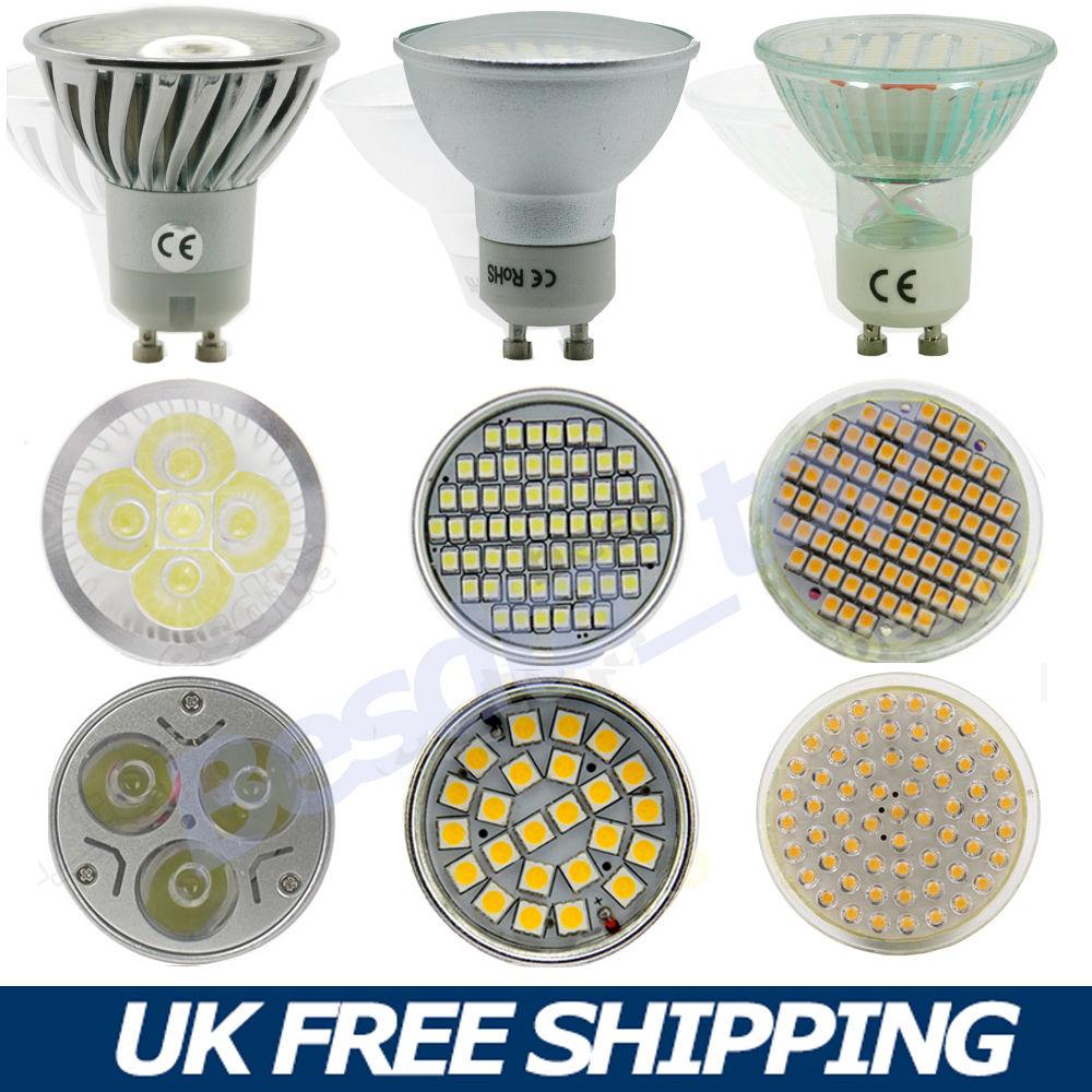 gu10 4w 6w 7w 9w 15w dimmable cree led spot 240v light bulb warm cool day white ebay. Black Bedroom Furniture Sets. Home Design Ideas