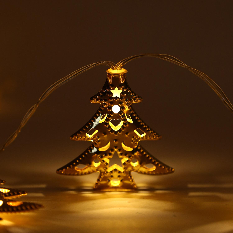 Tree Shape 20LED String Fairy Lights Battery Power Lighting Garden ...
