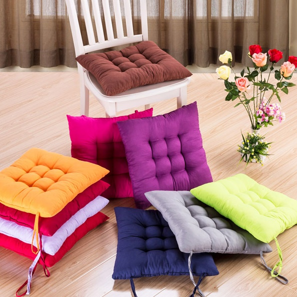 Pack Soft Seat Pads Indoor Dining Garden Home Office Tie On Chair ...