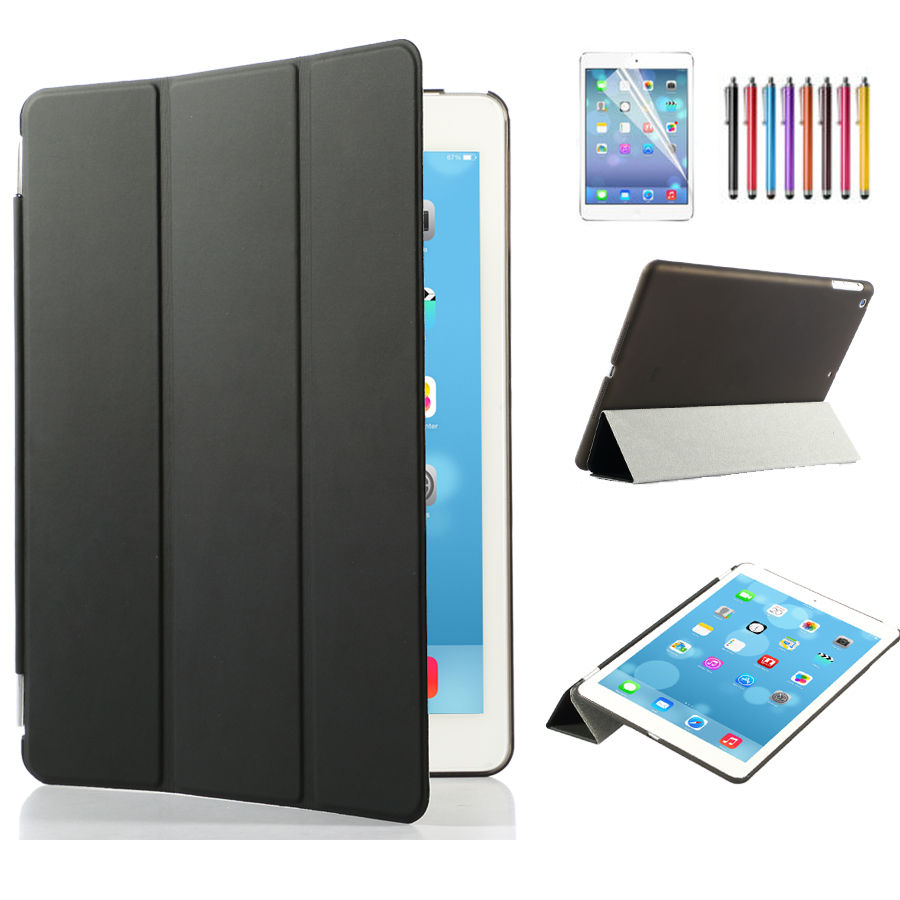smart cover for apple ipad air ipad air 2 magnetic leather cover hard case lot ebay. Black Bedroom Furniture Sets. Home Design Ideas