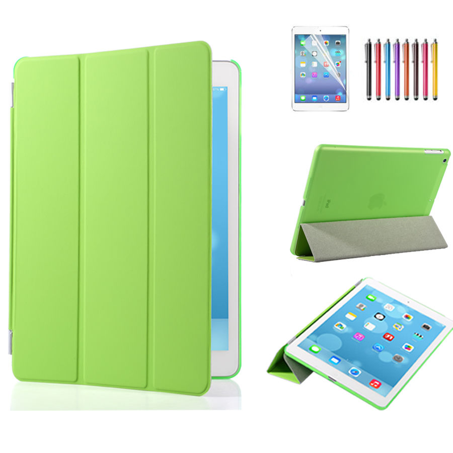 slim leather smart cover back skin case for apple ipad 2 3 4 mini air pro lot ebay. Black Bedroom Furniture Sets. Home Design Ideas