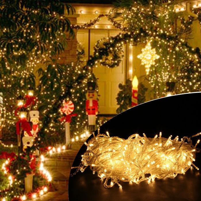 100 1000 led guirlande lumineuse noel f te lampe exterieur. Black Bedroom Furniture Sets. Home Design Ideas