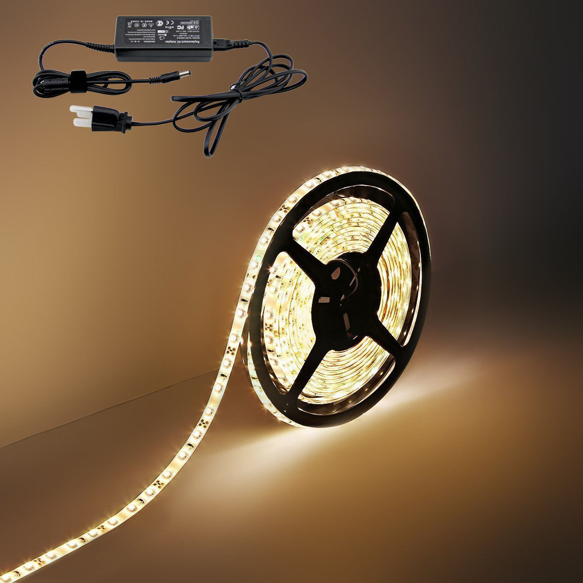 Waterproof 5m Warm White Rgb 12v Dc Dimmable Smd Led Strip