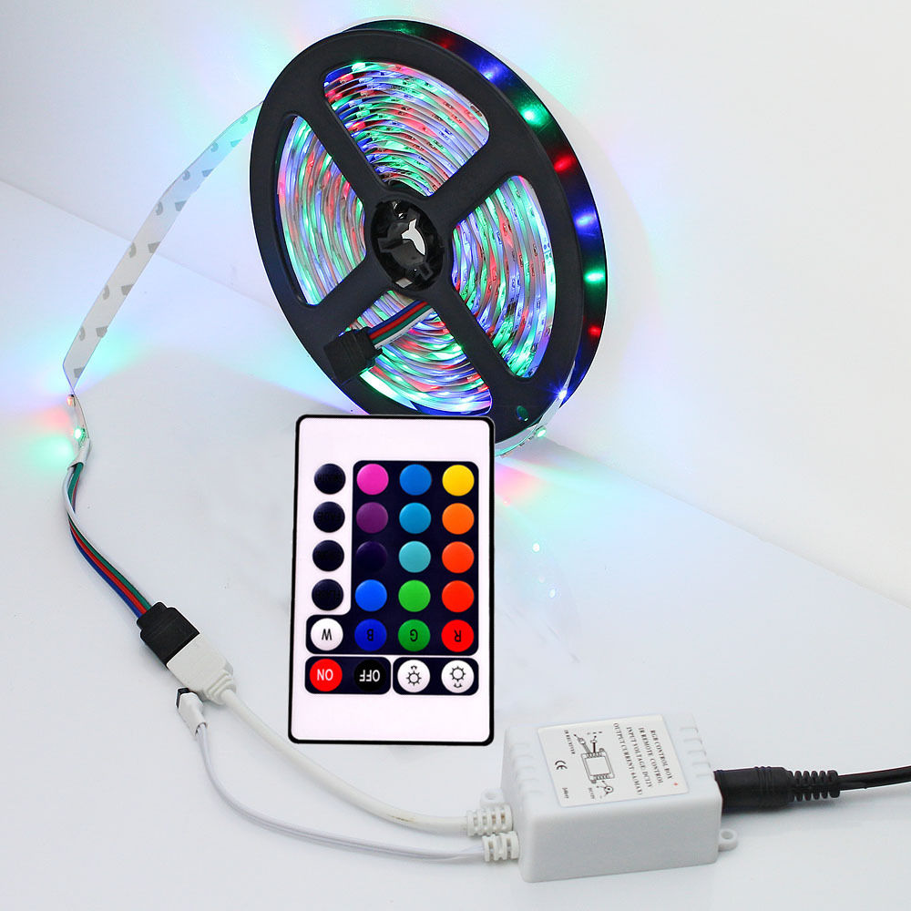 tv back light led strips set rgb plasma tv lights colour changing 5 100m kit ebay. Black Bedroom Furniture Sets. Home Design Ideas