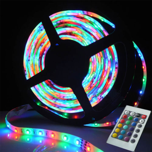 Mood Lighting Ideas From Visualchillout: 5M 100M LED MOOD LIGHTING IDEAS TV BACK LIGHTS 16 COLOUR