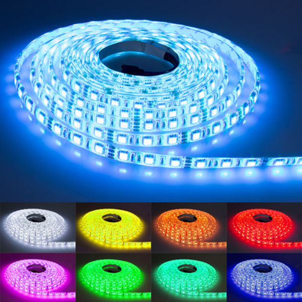 NEW 220V 240V RGB LED Strip Light Waterproof 5050 SMD