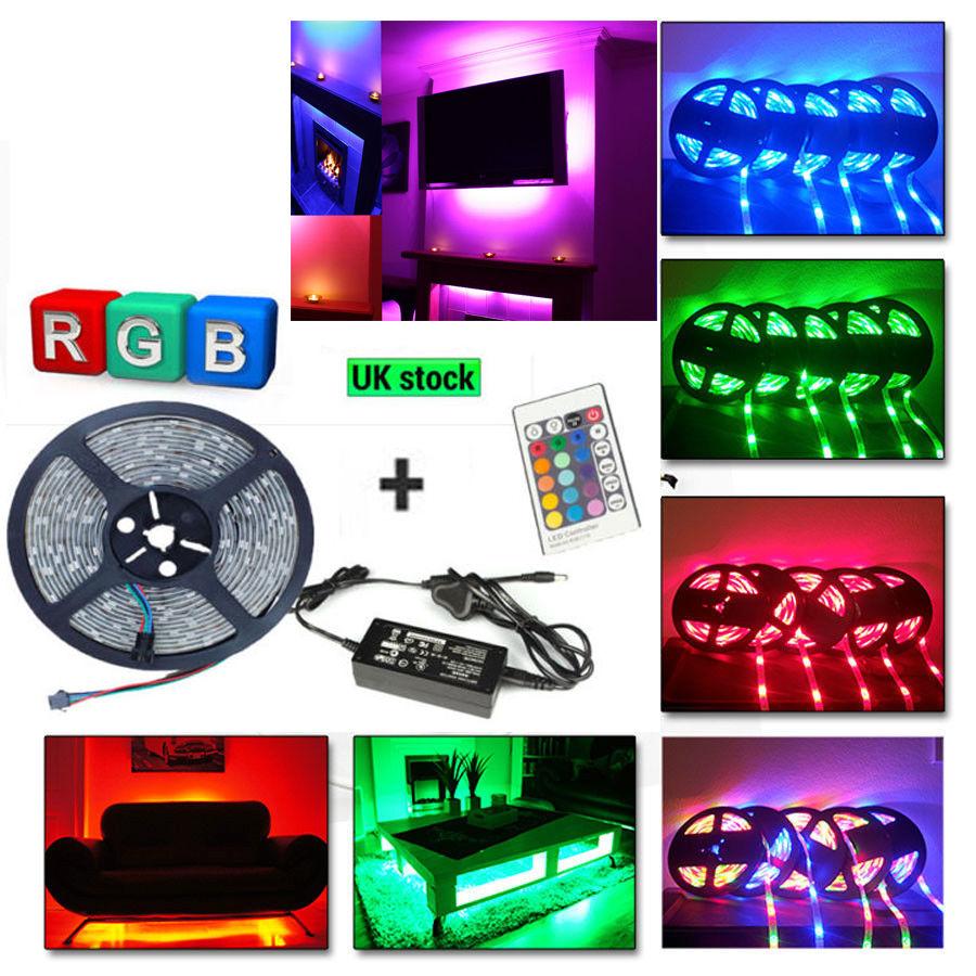 Led Home Theater Tv Back Light Bias Accent Lighting Kit: LED Home Theater TV BackLight Accent Lighting Kit Multi