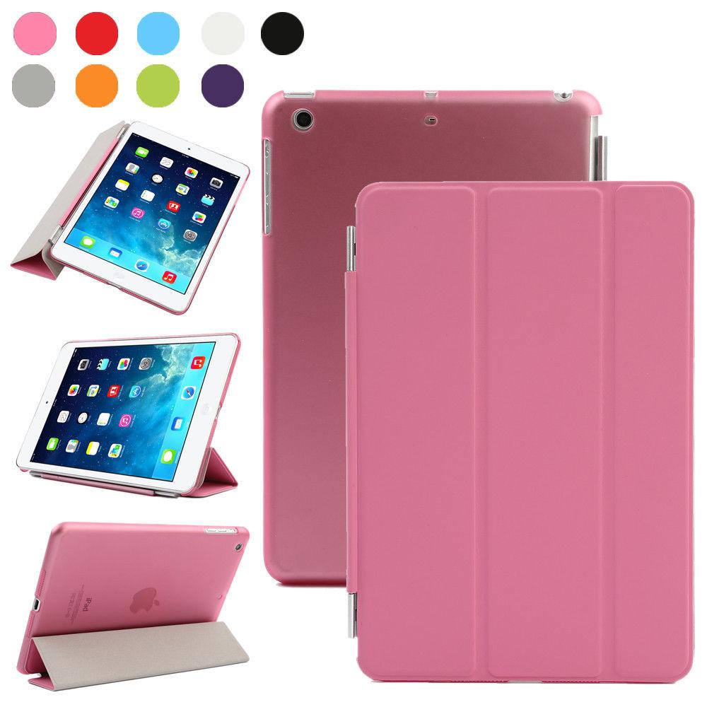 lot magnetic smart cover leather back case for apple. Black Bedroom Furniture Sets. Home Design Ideas