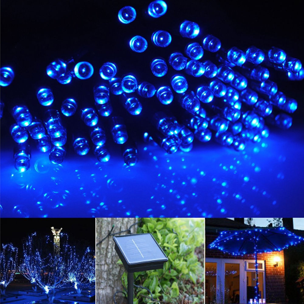 Solar Outdoor String Lights Costco: Fairy String Lights 20M 100 LED Solar Charging Christmas
