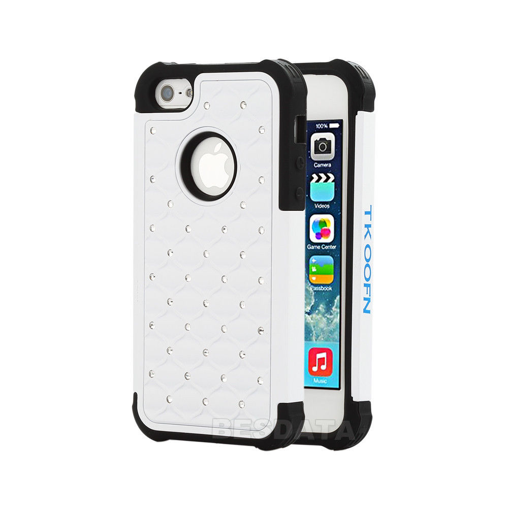 iphone 5c 3d cases for iphone 5 5s 5c heavy duty soft hybrid 3d bling 14629