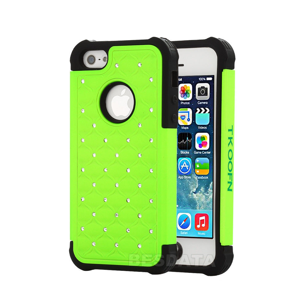 3d iphone 5s cases for iphone 5 5s 5c heavy duty soft hybrid 3d bling 3127