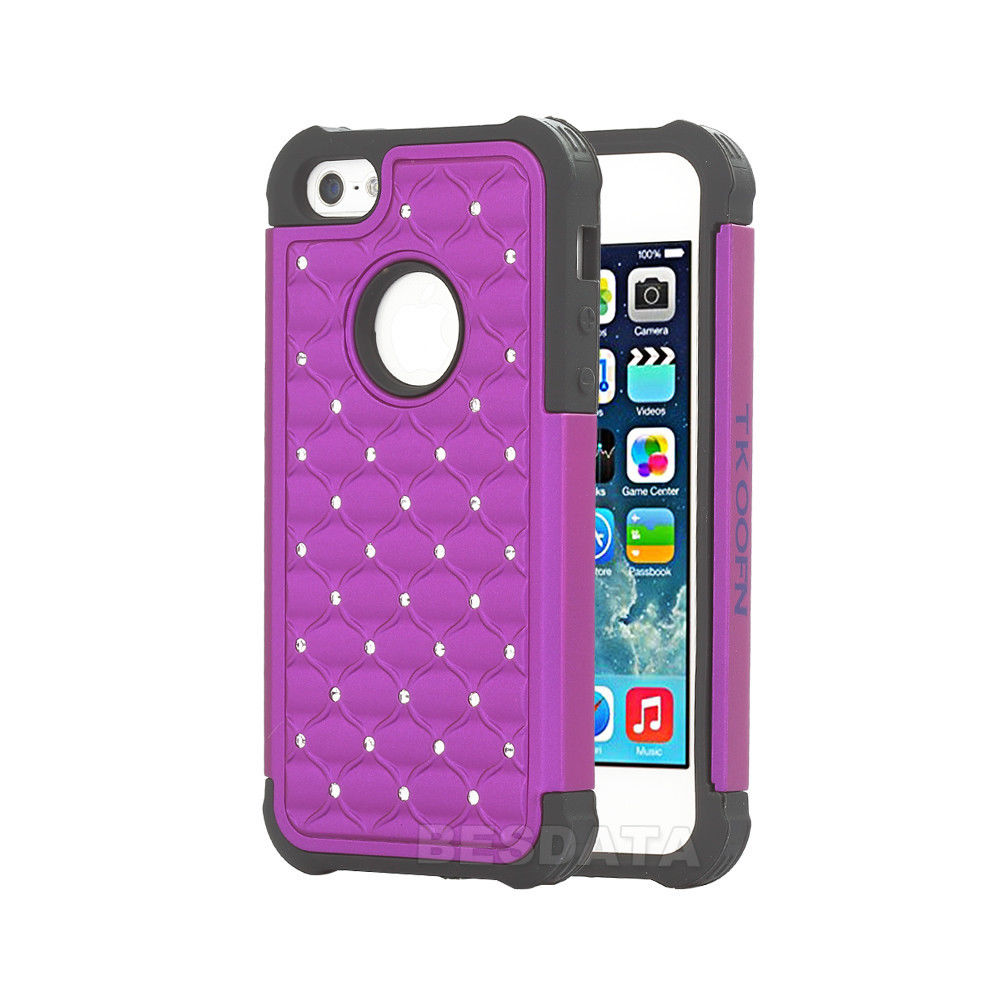 3d iphone 5c cases for iphone 5 5s 5c heavy duty soft hybrid 3d bling 13345
