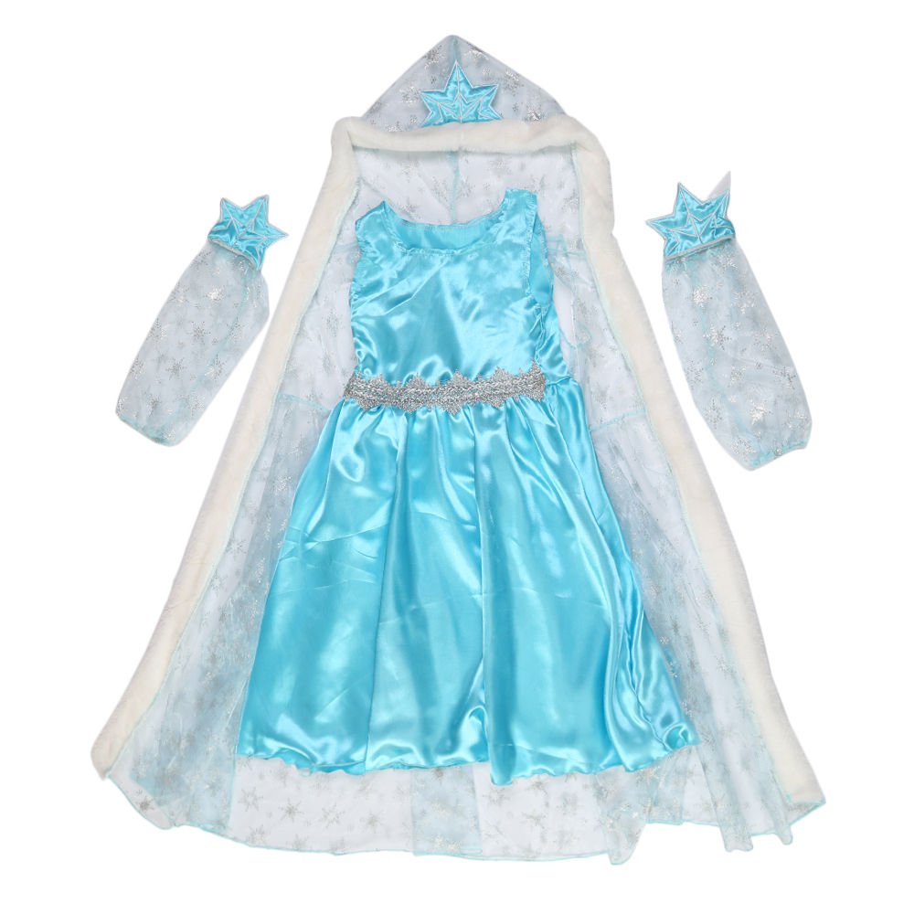 eisk nigin cosplay party dress kost m m dchen prinzessin elsa kleid umhang 10 ebay. Black Bedroom Furniture Sets. Home Design Ideas