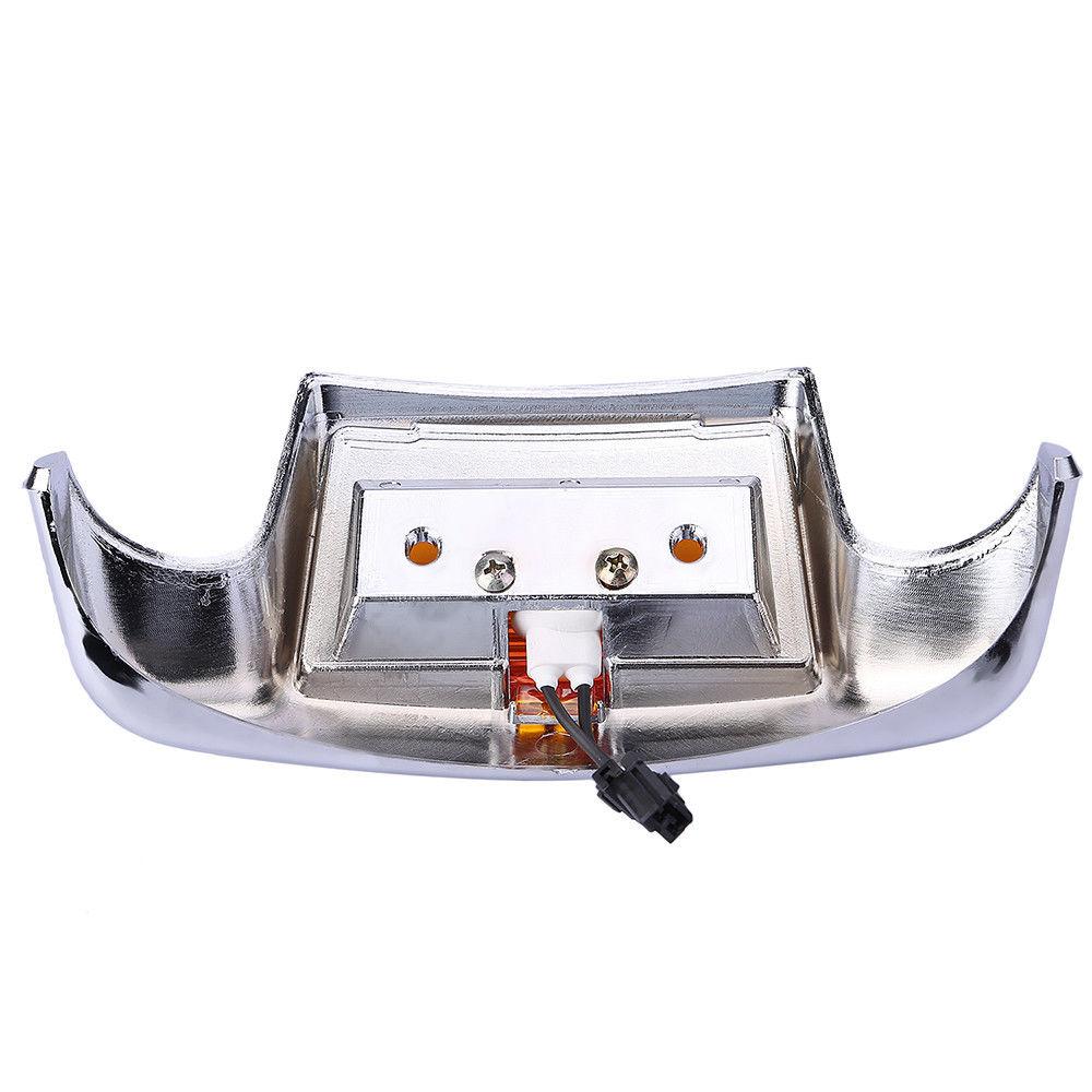 Front Amp Rear Mudguard Trim Fender Tip Led Light For Harley