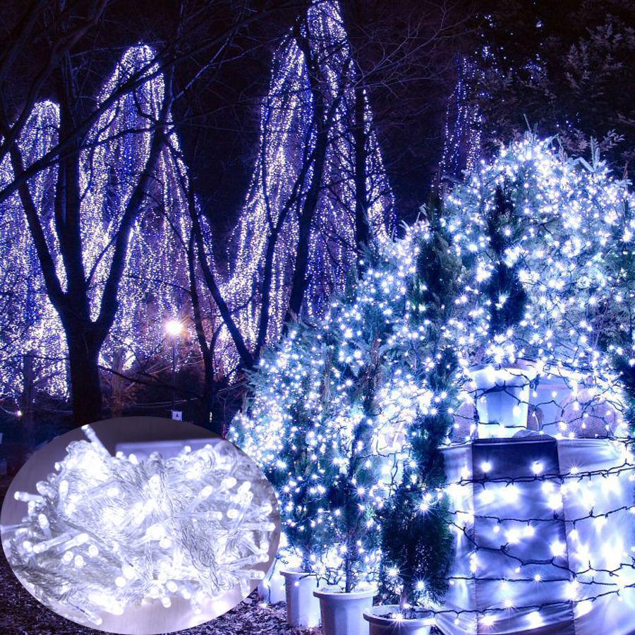 10 200m 500 1000 led guirlande lumineuse no l f te lampe for Decoration led exterieur