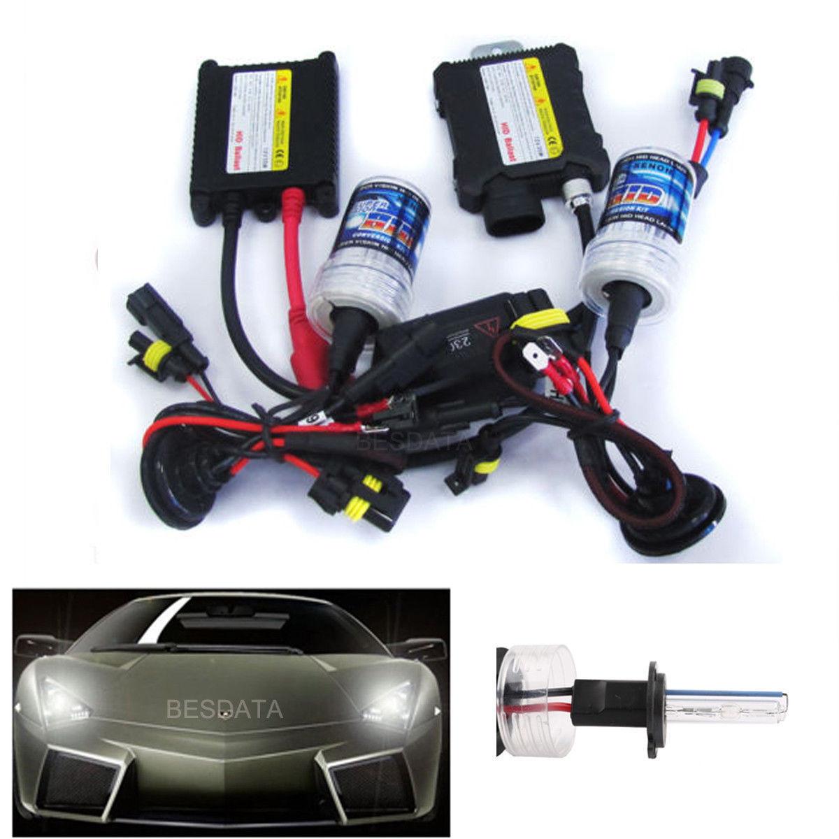 35 55w hid xenon conversion kit headlights slim ballast h1 h4 h7 4300 6000 8000k ebay. Black Bedroom Furniture Sets. Home Design Ideas