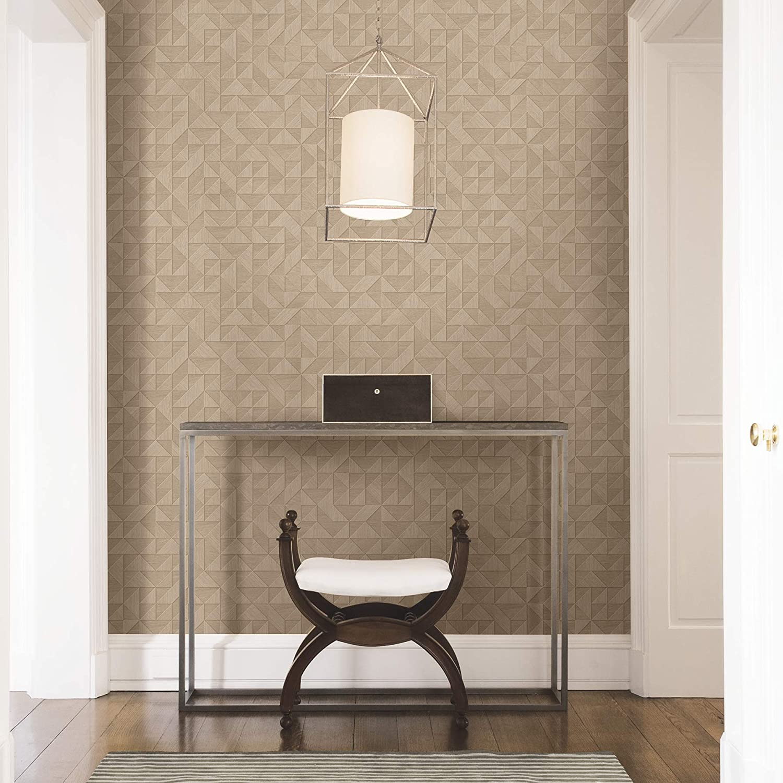 A Street Prints 2908 25328 Gallerie Beige Geometric Wood Wallpaper Ebay