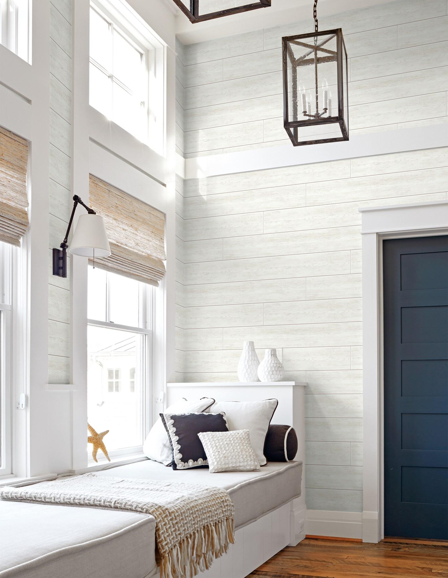 White Shiplap Peel & Stick Wallpaper GW1002   eBay