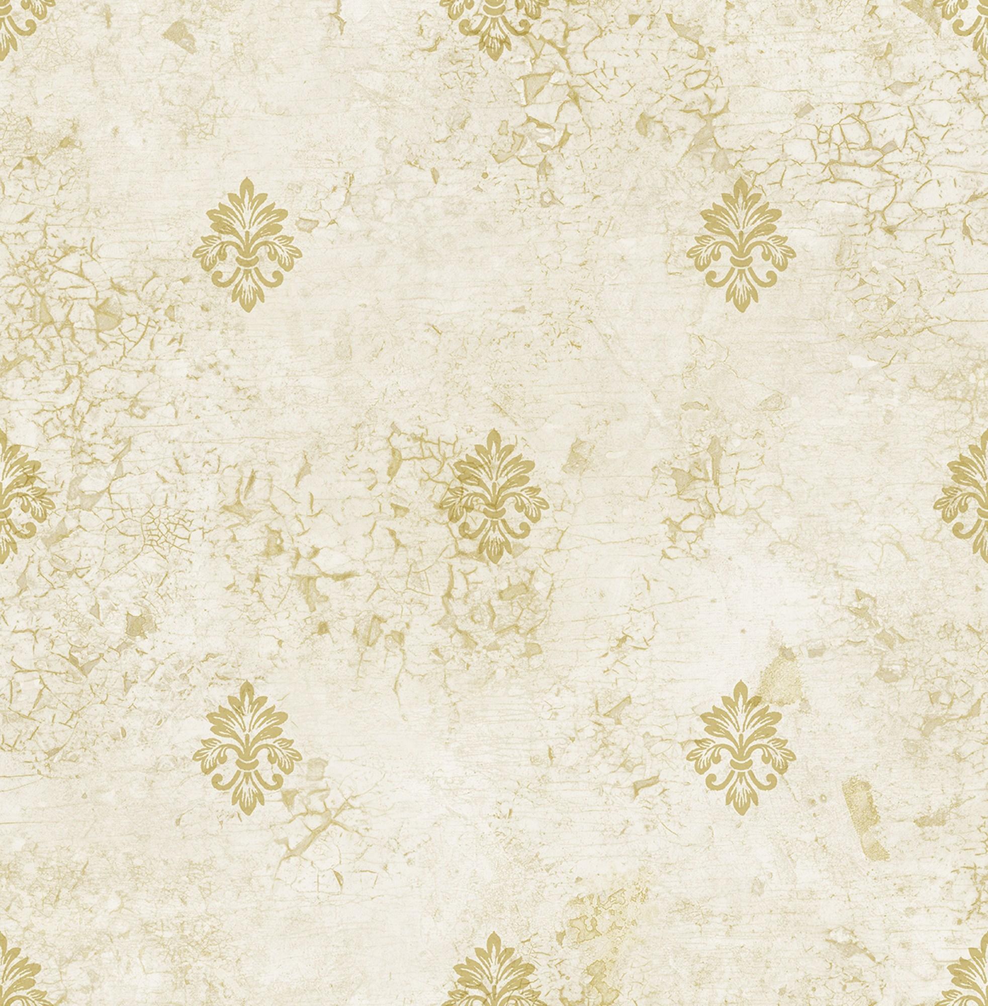 Distressed Fleur de lis Wallpaper in Shinning DV50105 from ...