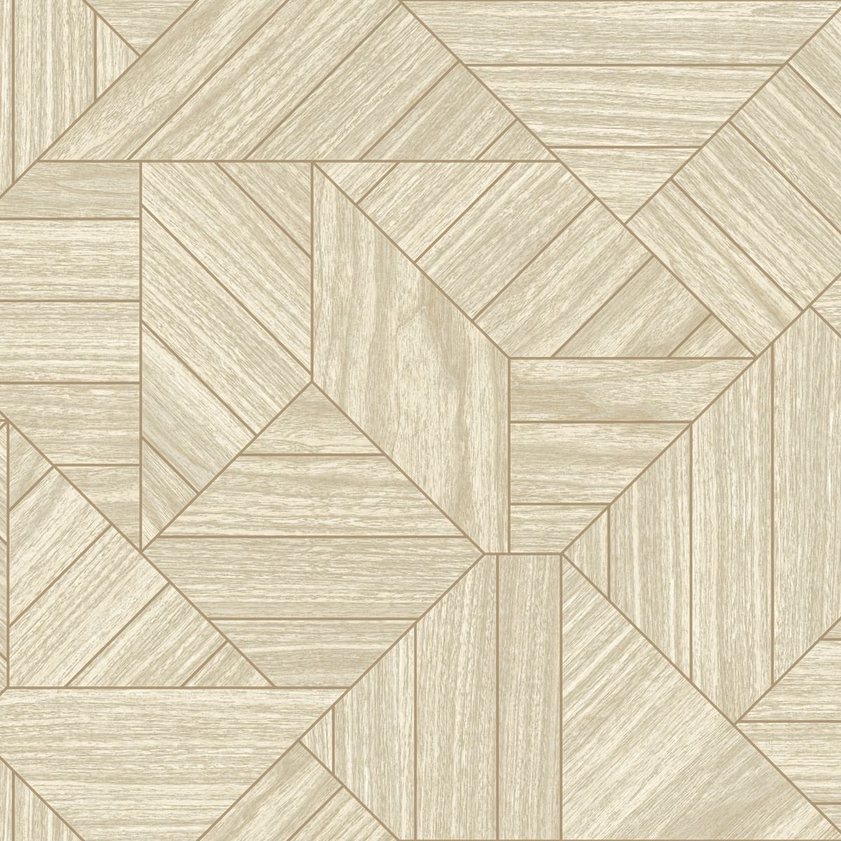 Details About York Wallcoverings Ho3374 Wood Geometric Wallpaper Tailored Collection Beige