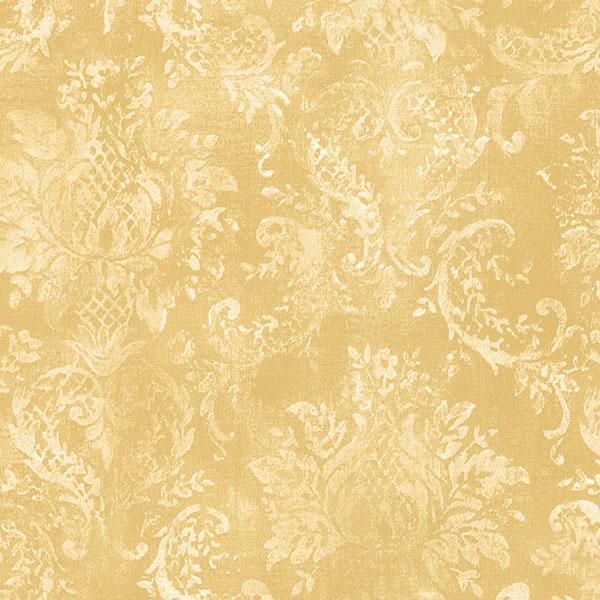 Norwall Wallcoverings SD25655 Stripes Damasks 3 Canvas Damask Wallpaper Yellow Cream