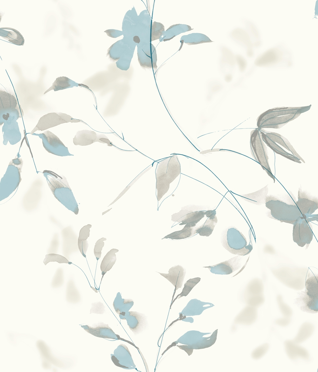 Candice Olson Blue Living Rooms: York SO2441 Candice Olson Tranquil Linden Flower Wallpaper