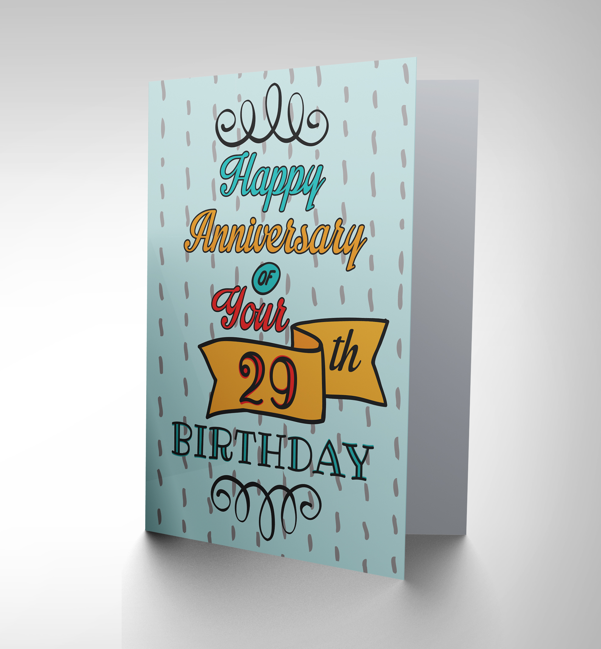CARD GREETING HAPPY BIRTHDAY 29TH ANNIVERSARY FOREVER