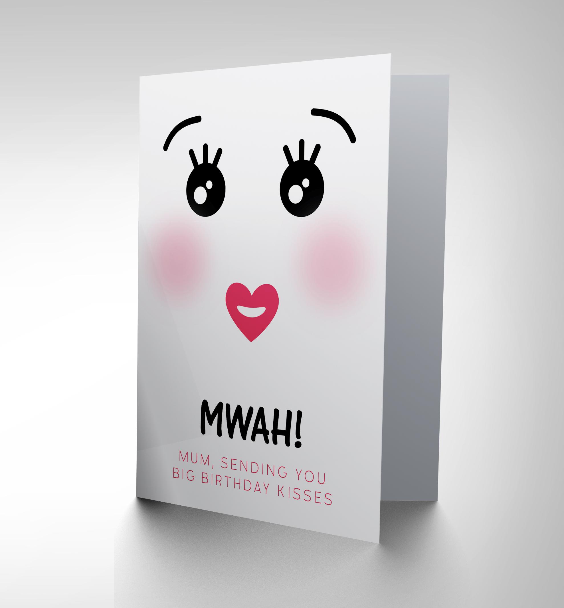 CARD BIRTHDAY HAPPY JAPANESE KAWAII CUTE KISS MUM GIFT CP2704