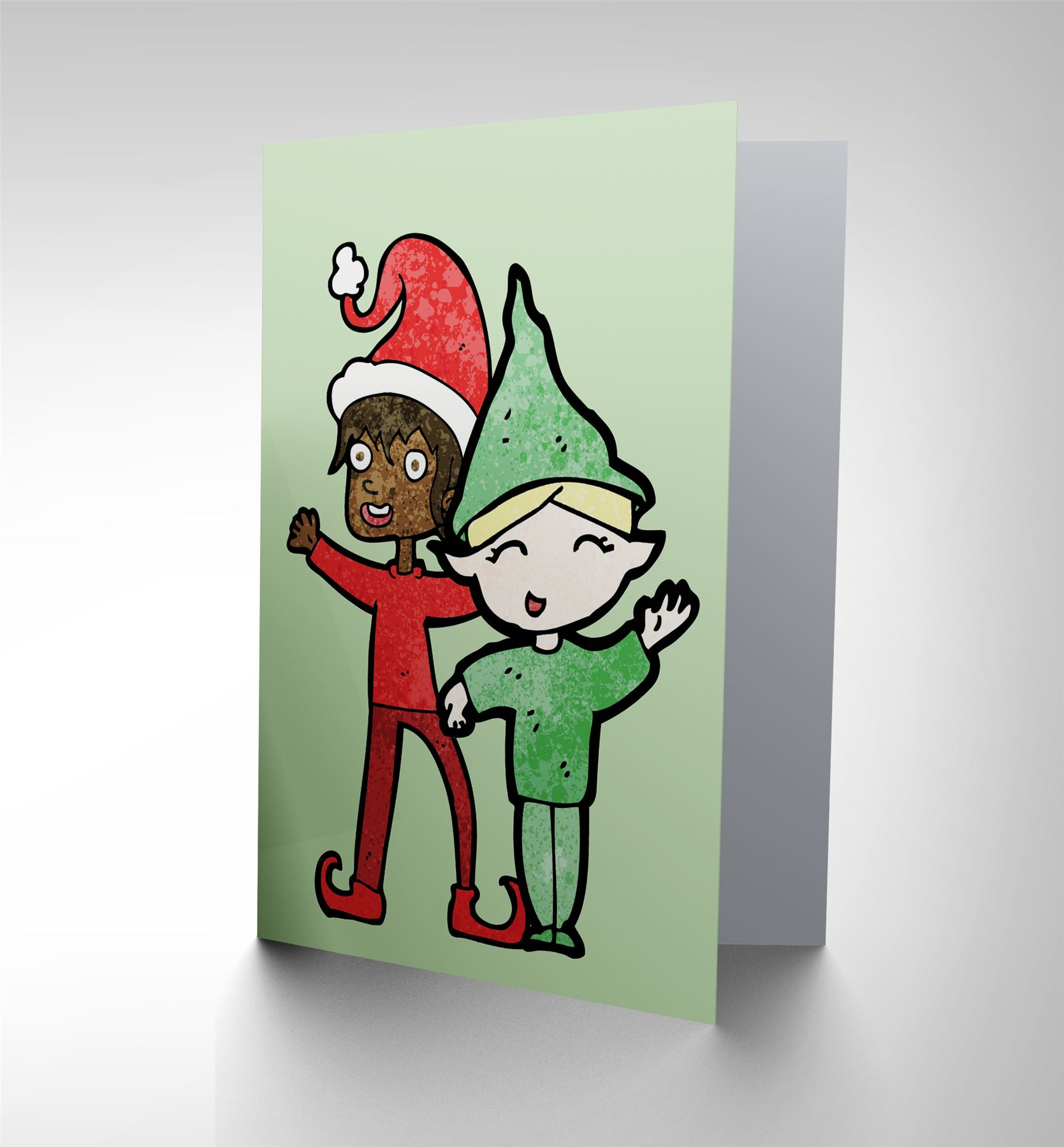 picture 1 of 3 - Elf Christmas Card
