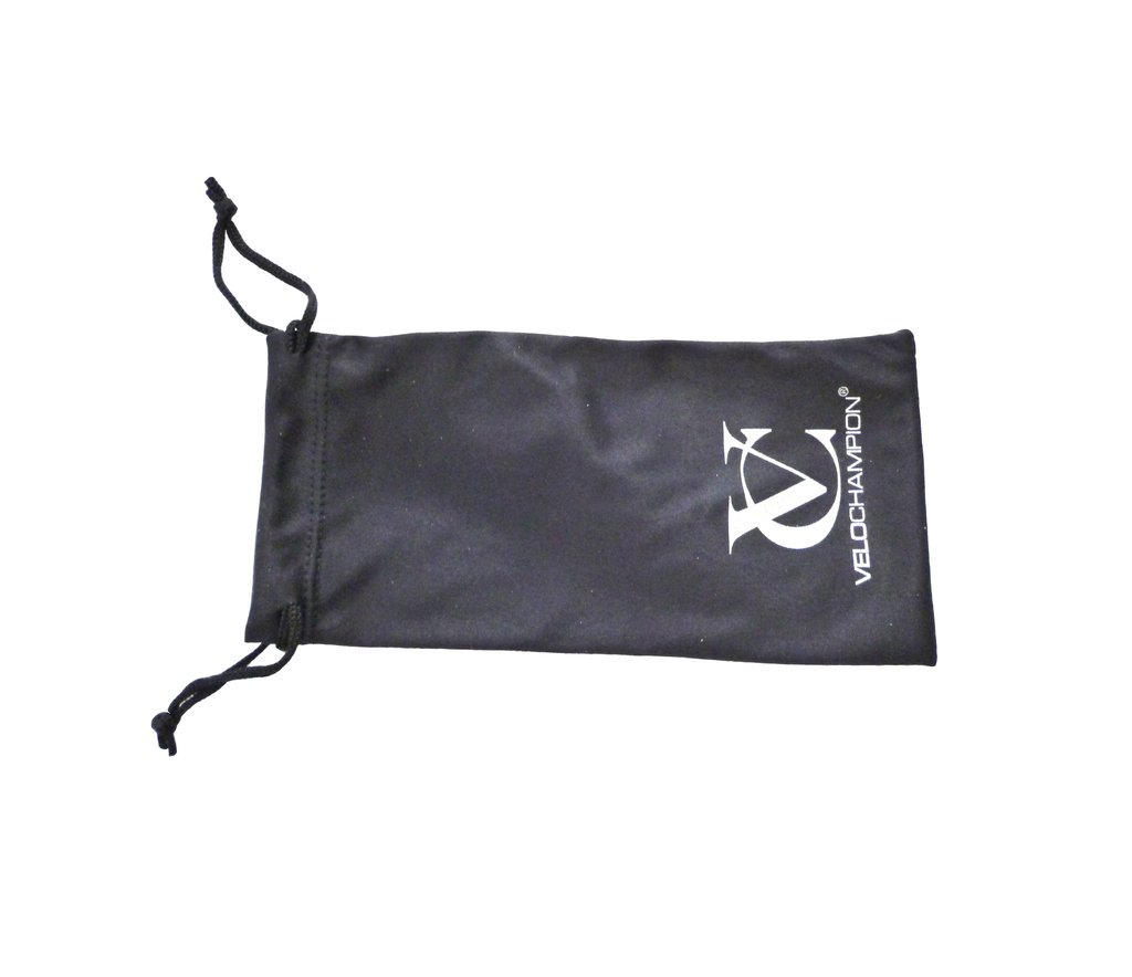 VeloChampion Microfibre Sunglasses Pouch for use with our elite sunglasses range, including Hypersonic and Missile Sunglasses. The VeloChampion Microf