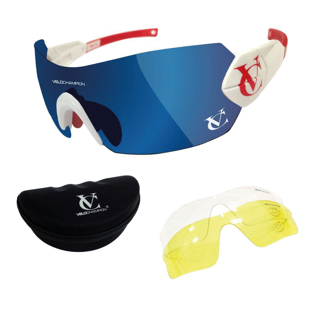 55cfc74746c4 Details about Hypersonic Cycling Sunglasses with 3 lens Running Sports  VeloChampion Eyewear