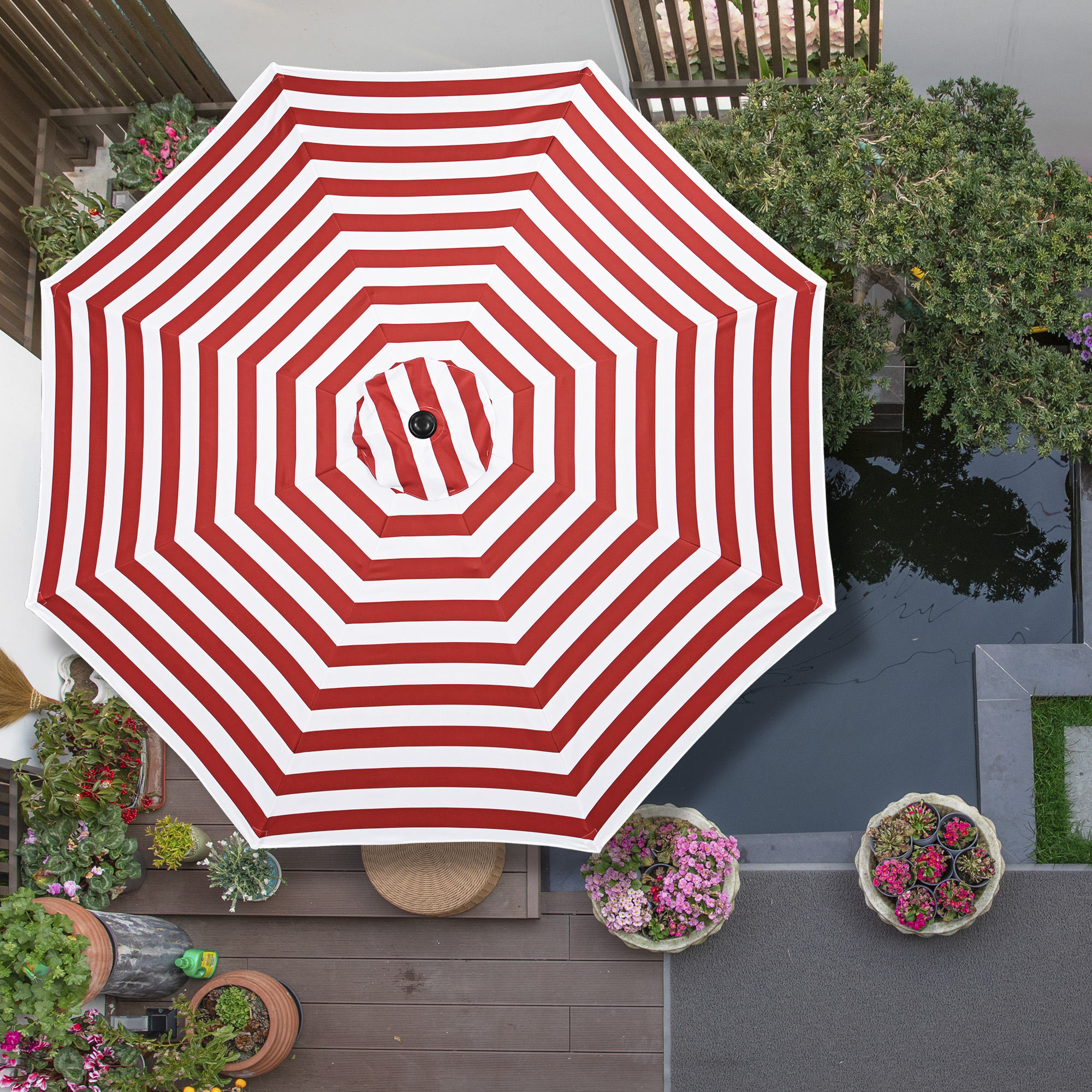 thumbnail 101 - 8'/9'/10'/13' Umbrella Replacement Canopy 8 Rib Outdoor Patio Top Cover Only Opt