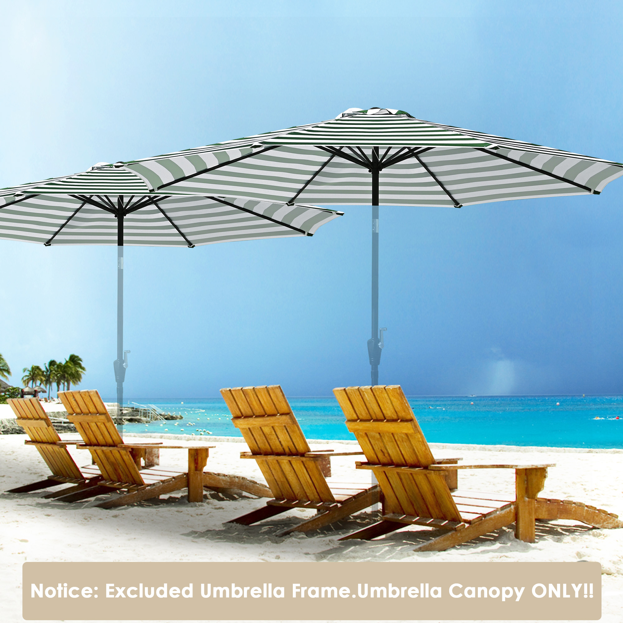 thumbnail 55 - 8'/9'/10'/13' Umbrella Replacement Canopy 8 Rib Outdoor Patio Top Cover Only Opt
