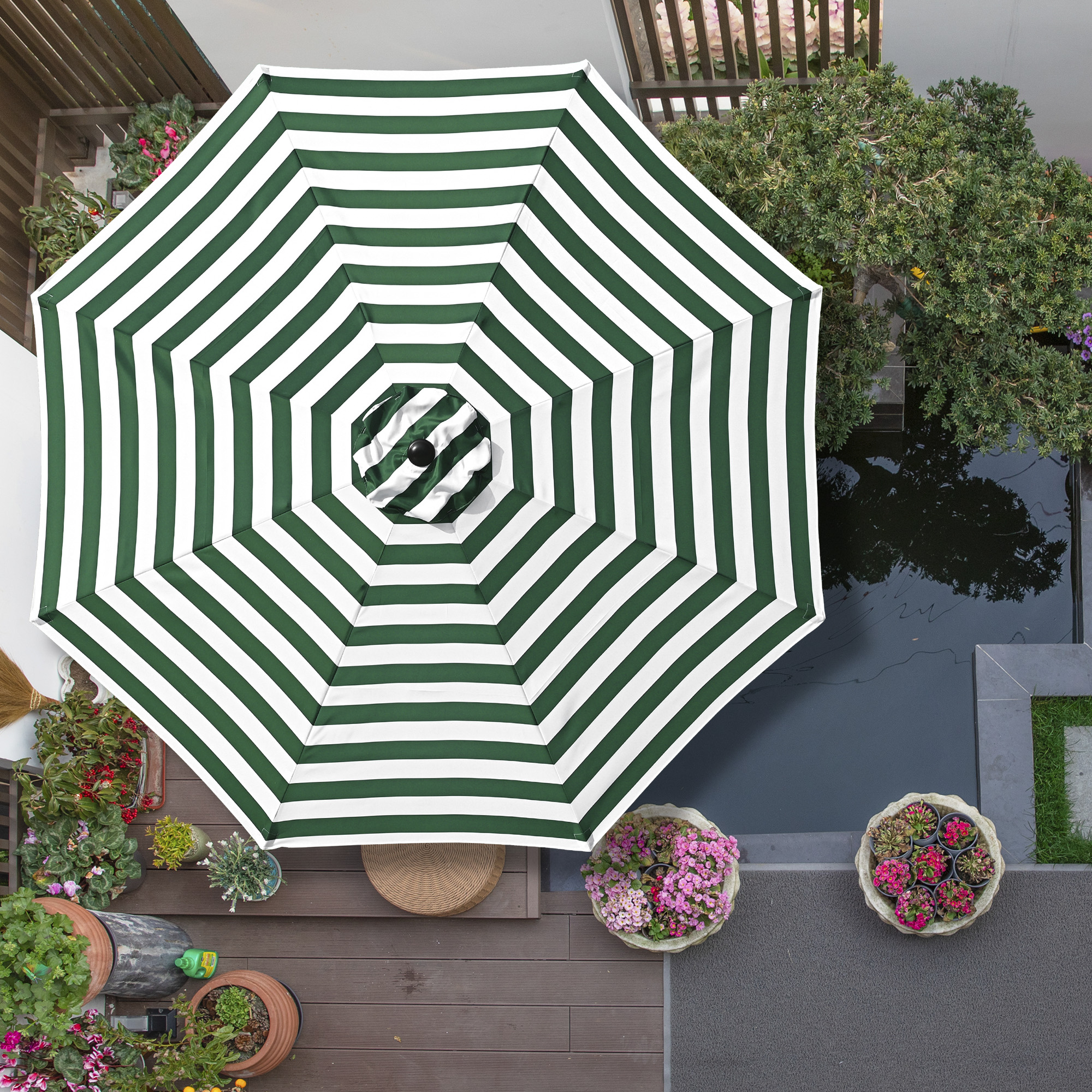 thumbnail 56 - 8'/9'/10'/13' Umbrella Replacement Canopy 8 Rib Outdoor Patio Top Cover Only Opt