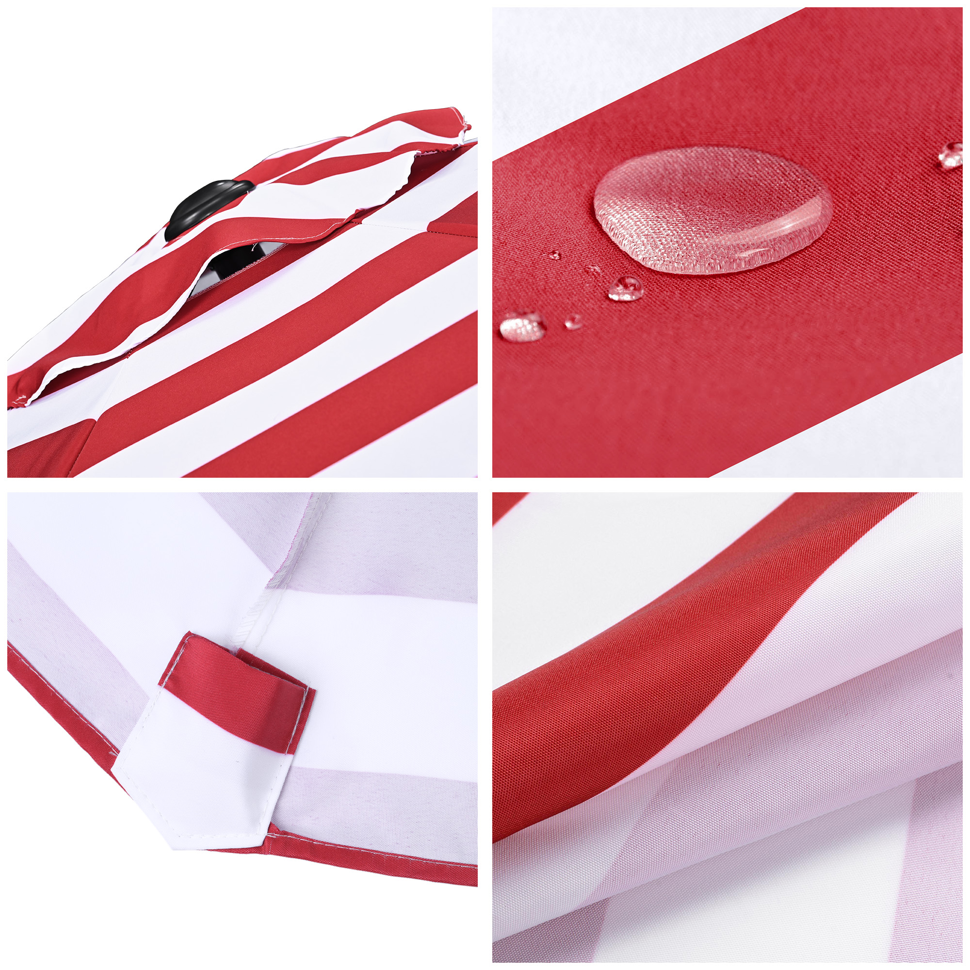 thumbnail 404 - 8'/9'/10'/13' Umbrella Replacement Canopy 8 Rib Outdoor Patio Top Cover Only Opt