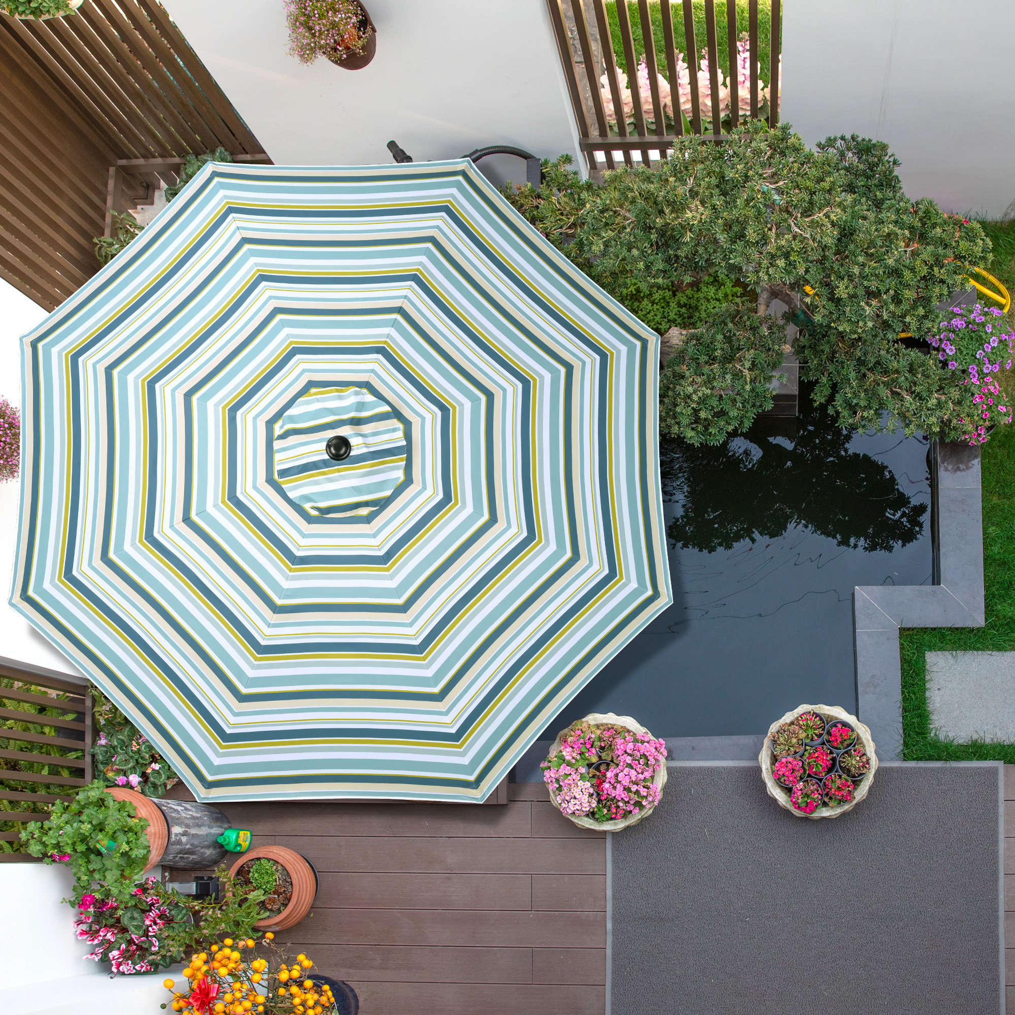 thumbnail 425 - 8'/9'/10'/13' Umbrella Replacement Canopy 8 Rib Outdoor Patio Top Cover Only Opt