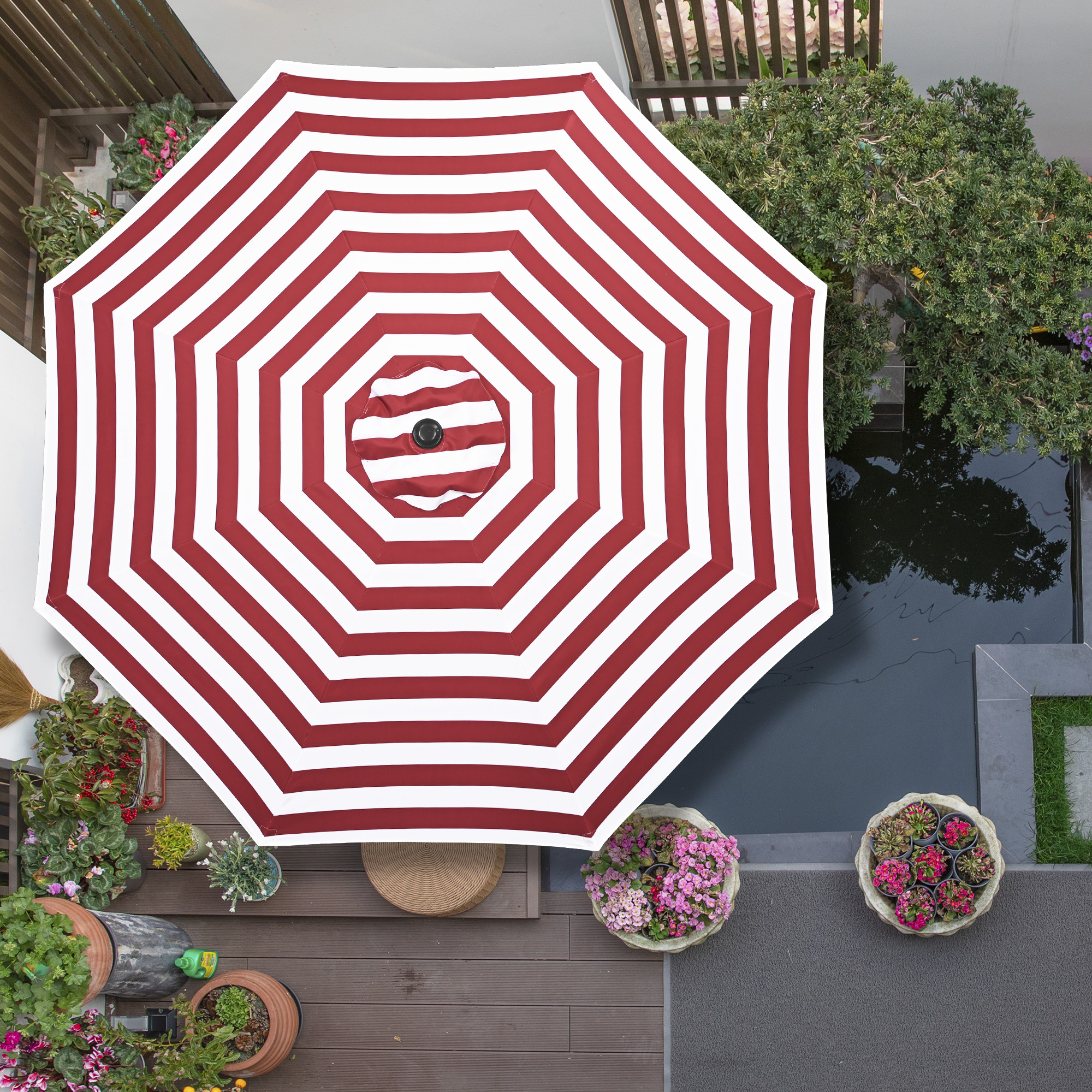thumbnail 517 - 8'/9'/10'/13' Umbrella Replacement Canopy 8 Rib Outdoor Patio Top Cover Only Opt