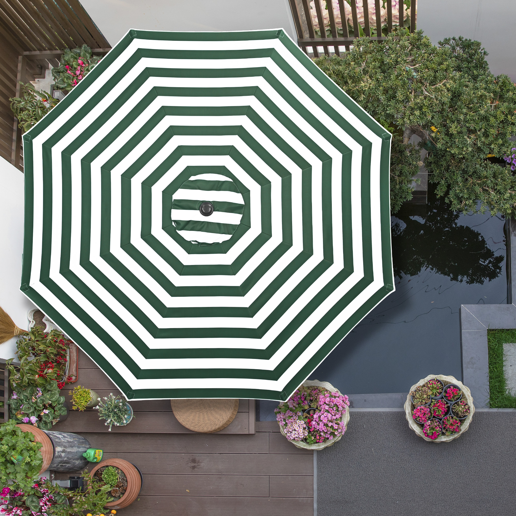 thumbnail 469 - 8'/9'/10'/13' Umbrella Replacement Canopy 8 Rib Outdoor Patio Top Cover Only Opt