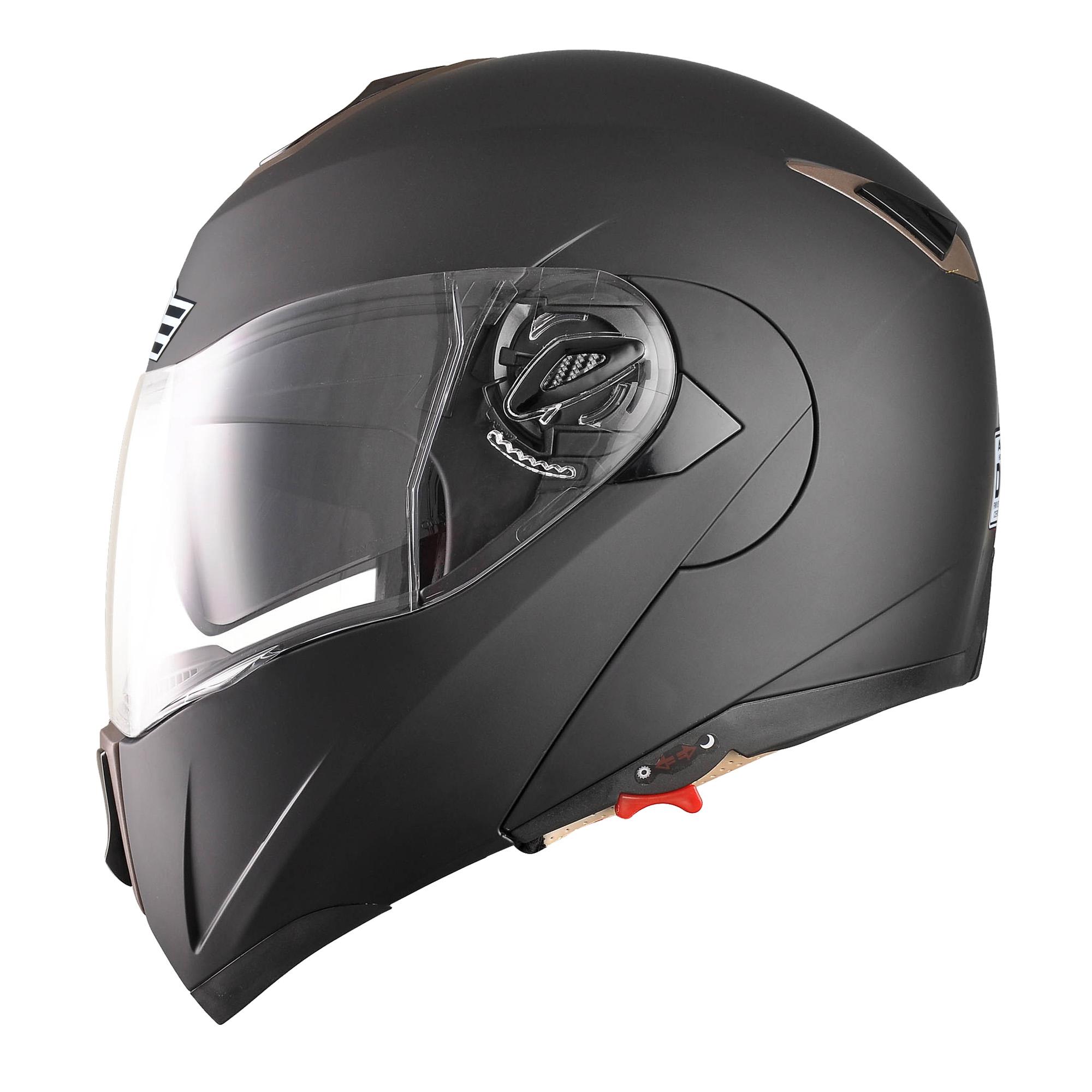 miniature 47 - DOT Flip up Modular Full Face Motorcycle Helmet Dual Visor Motocross Size Opt