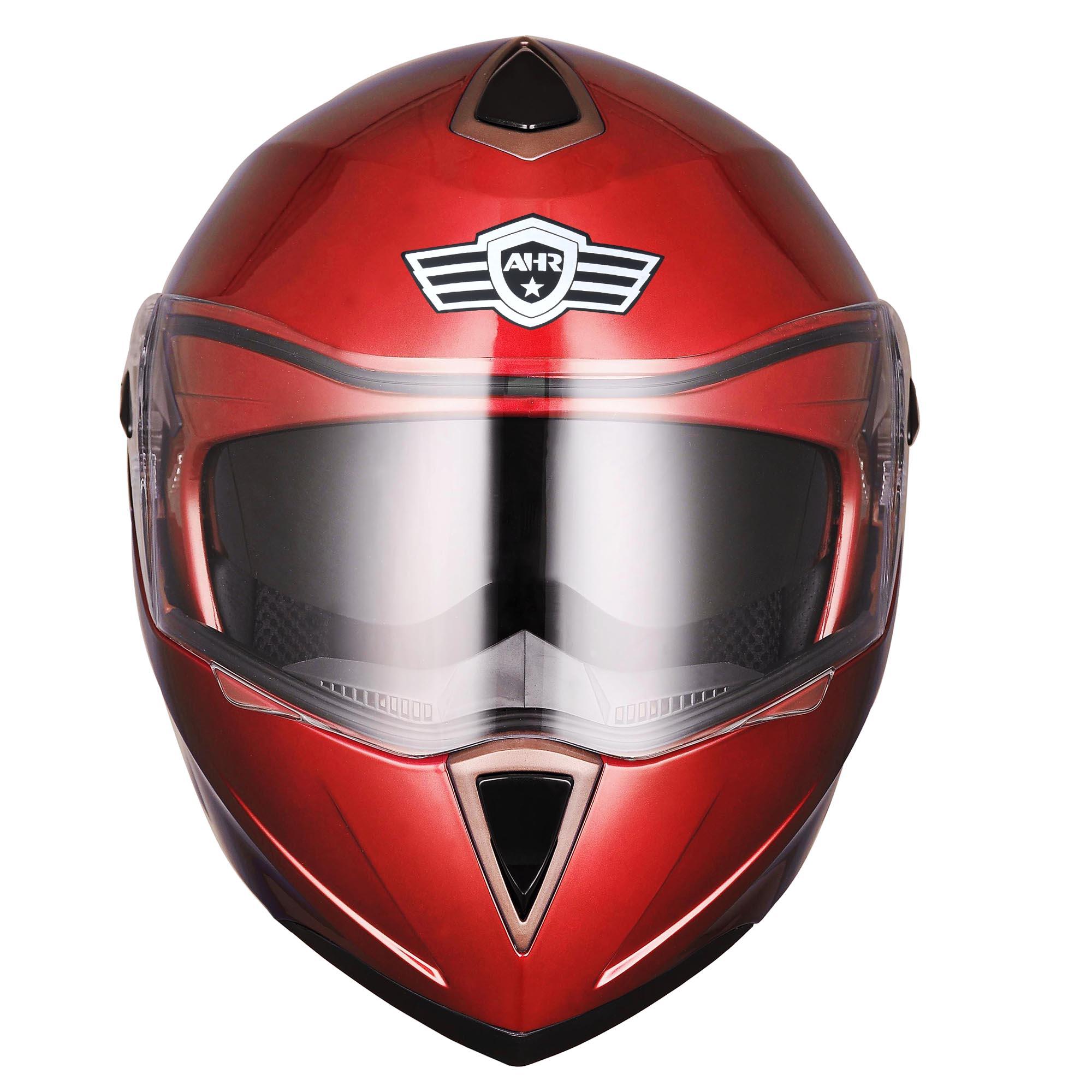 miniature 171 - DOT Flip up Modular Full Face Motorcycle Helmet Dual Visor Motocross Size Opt