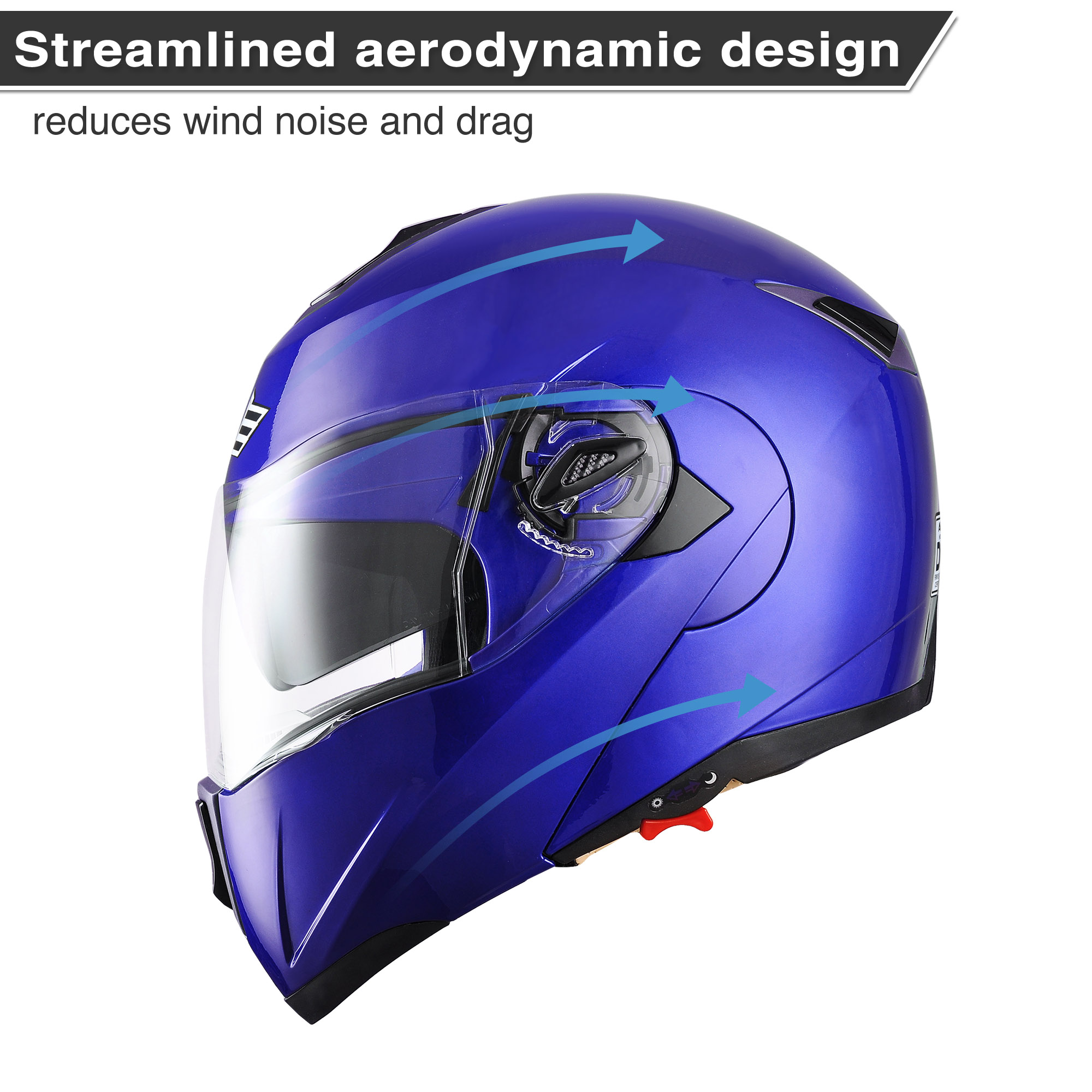 miniature 144 - DOT Flip up Modular Full Face Motorcycle Helmet Dual Visor Motocross Size Opt