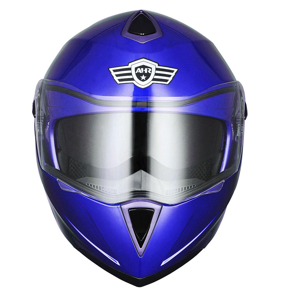 miniature 151 - DOT Flip up Modular Full Face Motorcycle Helmet Dual Visor Motocross Size Opt