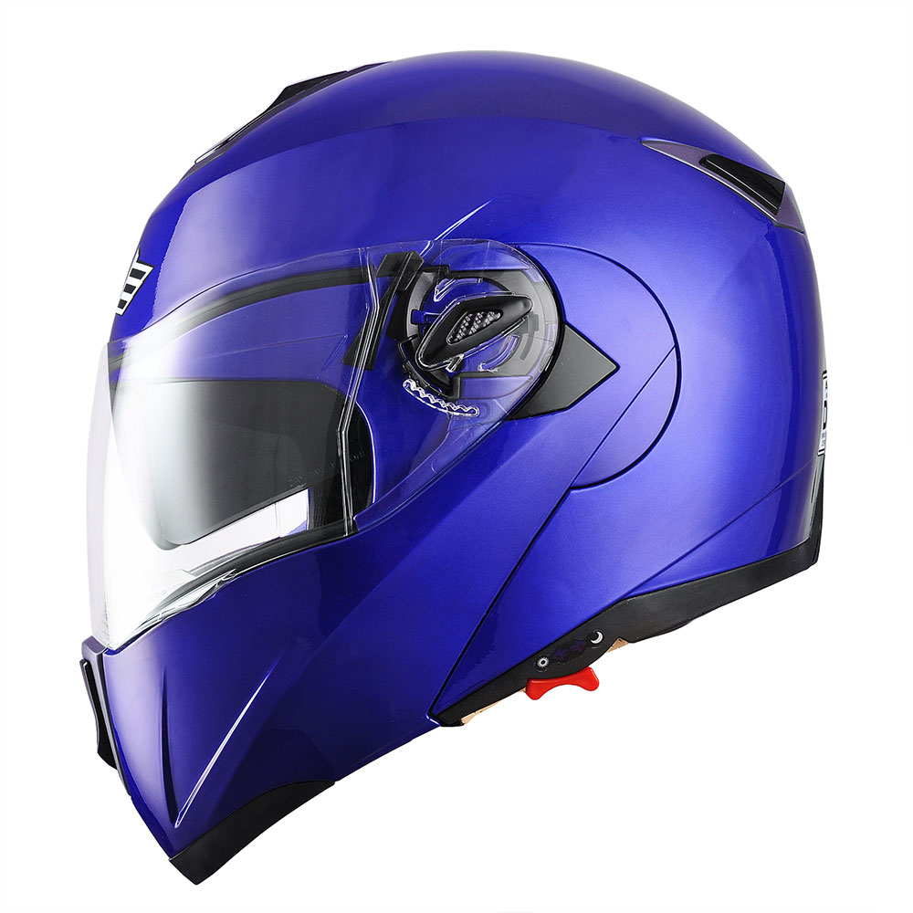 miniature 153 - DOT Flip up Modular Full Face Motorcycle Helmet Dual Visor Motocross Size Opt