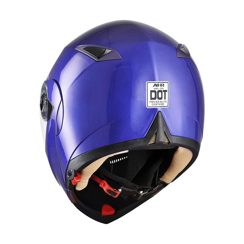 miniature 143 - DOT Flip up Modular Full Face Motorcycle Helmet Dual Visor Motocross Size Opt