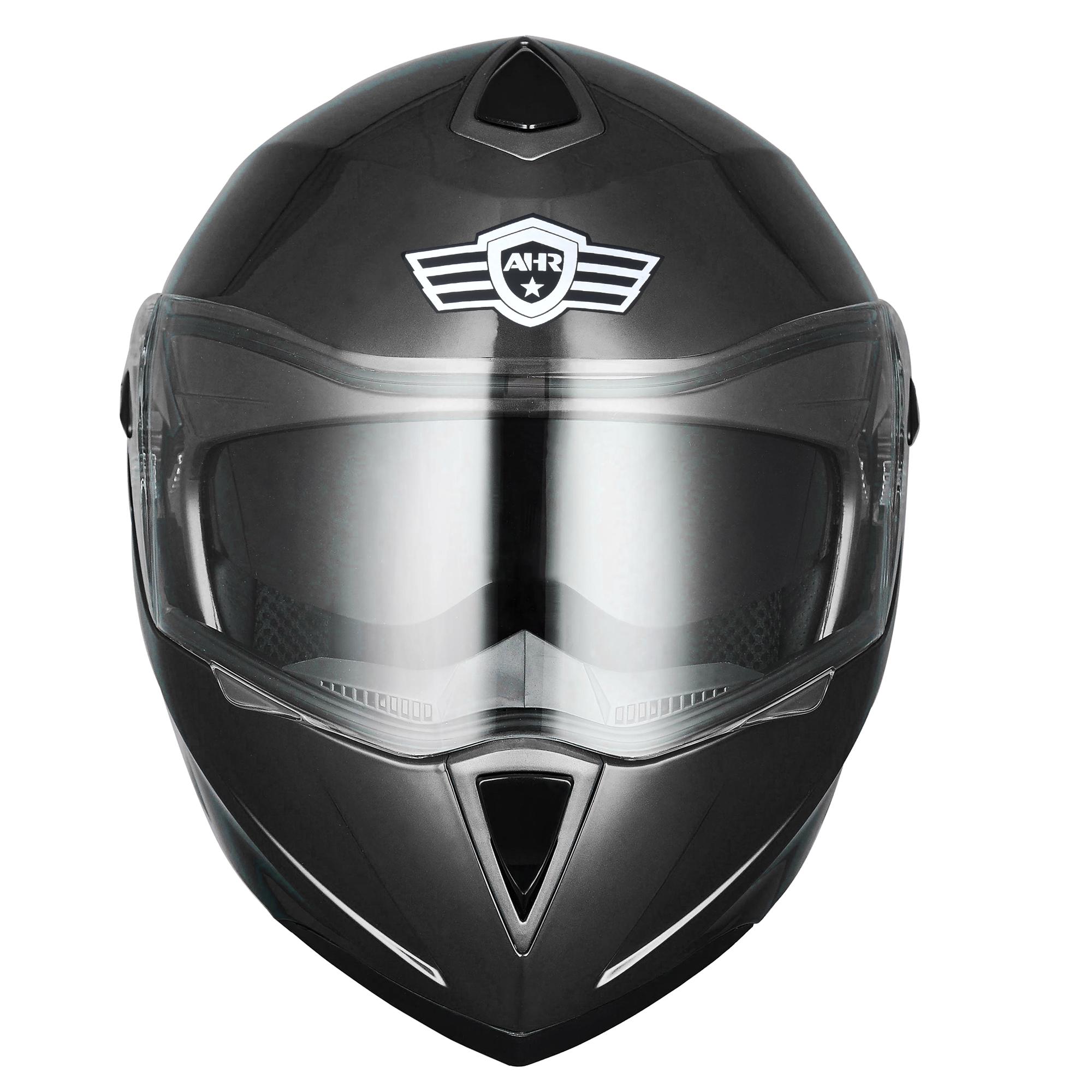miniature 139 - DOT Flip up Modular Full Face Motorcycle Helmet Dual Visor Motocross Size Opt