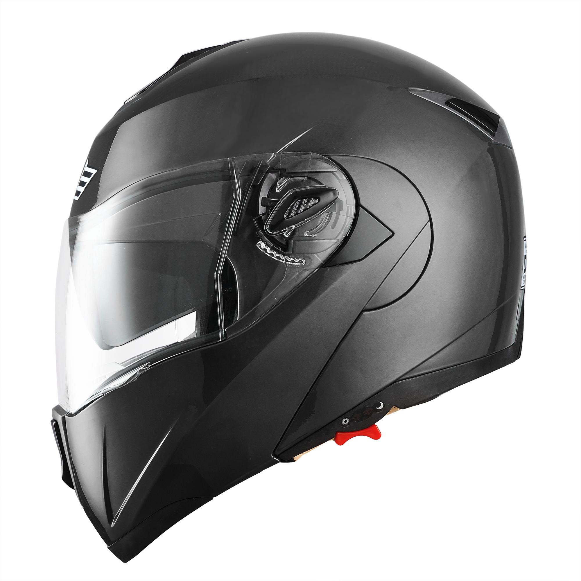 miniature 141 - DOT Flip up Modular Full Face Motorcycle Helmet Dual Visor Motocross Size Opt