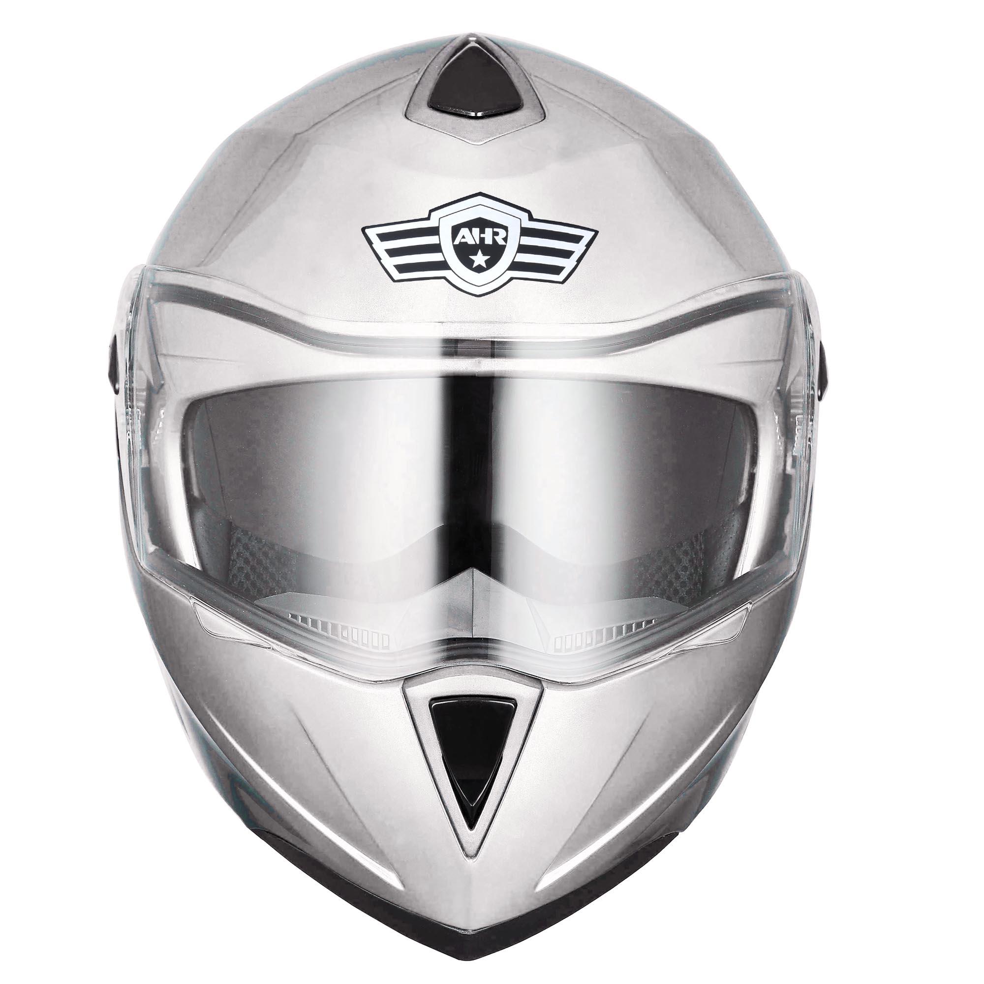 miniature 175 - DOT Flip up Modular Full Face Motorcycle Helmet Dual Visor Motocross Size Opt
